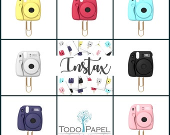Instax Camera Planner Paper Clips. 7 Colors - Novelty Magnets & Planner Accessories - Small Party Favor Gifts | Trendy Instax Camera Clips