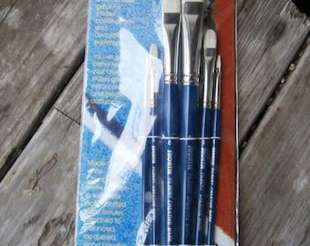 Set of 6 Filbert Shortie Brushes discount art supplies