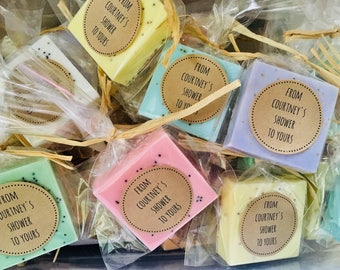 Bridal Shower Favors, Wedding Shower Favors or Baby Shower Favors, Soap Favors