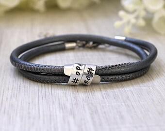 Secret message bracelet - Secret message - Bracelet with secret message - Quote bracelet - Hidden message leather bracelet - Hidden message