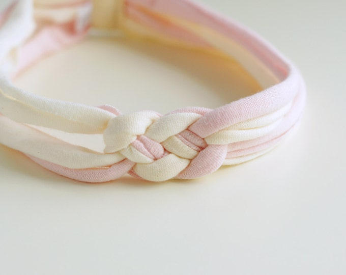 Knotted Baby Headband in Naturally Dyed Organic Cotton