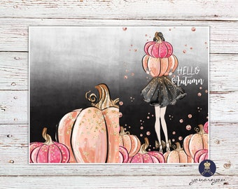 Hello Autumn Planner Dashboard, Fall Dashboard for Travelers Notebook