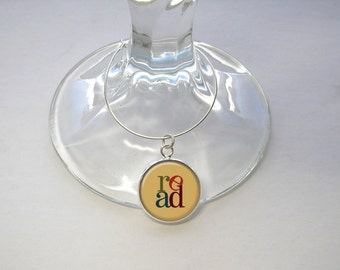 Book Lovers, Book Club Wine Charm Set of 6, 8, 10 or 12