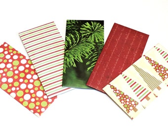 Christmas Money Envelopes, Decorative Bank Cash Savings Organizer Plan Budget Paper Pouches, Red Green Monetary Gift Envelope itsyourcountry