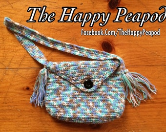 Cute Crocheted Kids Purse With Fringe