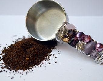 Silver Beaded Coffee Scoop