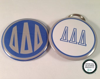 Tri-Delta Monogram Bottle Opener Keyrings,  Pocket Mirrors and Magnets