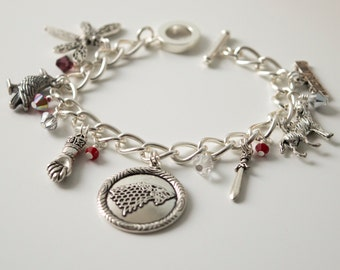 The North Remembers Charm Bracelet inspired by Game of Thrones