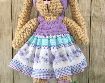 Handmade crochet bunny 19 inches tall
