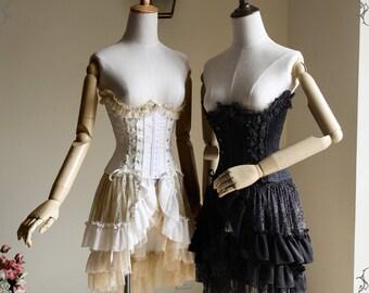 Elegant Gothic Lolita Underbust Steel Boned Corset
