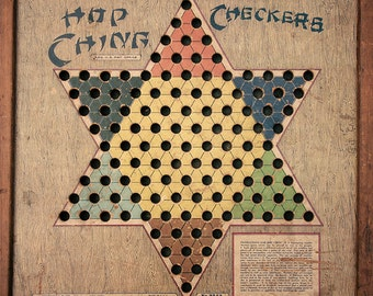 Vintage Chinese Checkers 1 Game Board Photograph Fine Art Print