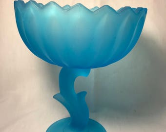 Vintage Indiana Glass Lotus Blossom Dish