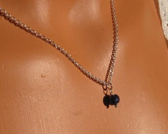 fatdog Necklace - NBS9 Birthstone September Sapphire Gemstone
