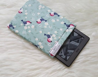 Kindle sleeve, kindle pouch, kindle protector, book bag, Book sleeve, bibliosleeve