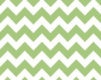 40% OFF SALE!  Chevron Medium Green - Riley Blake