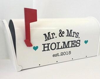 Benutzerdefinierte Hochzeit Karte Postfach Vinyl Schriftzug - personalisieren Sie Ihre eigene Wedding Card Box