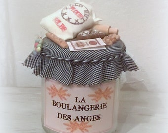 """Candle """"Bakery of Angels"""" miniature bakery, 'Little angels counters' collection"""