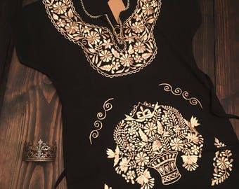 Gold and Black Mini Dress Medium/Large