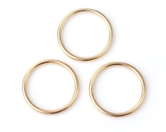 5 closed rings engraved gilded 22mm - SC0103646.