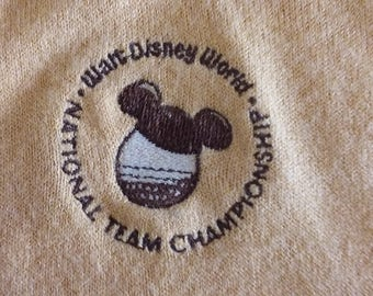Vintage Lady Pickering Walt Disney World National Team Championship Sweater
