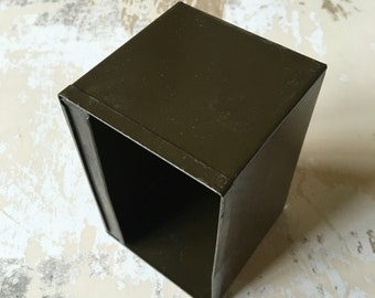 Small Metal Bin Container • Vintage