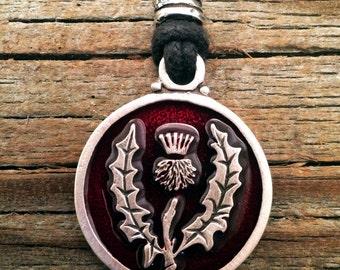 Scottish Thistle Pewter Pendant