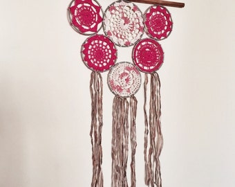 Crochet Dream Catcher Wall Hanging // Extra Small