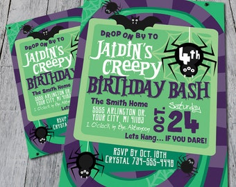 Creepy Crawly Birthday Invite (Digital)