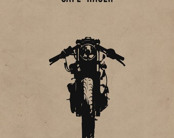 Cafe Racer Motorcycle Print