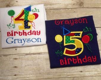 Birthday Shirt, Personalized Birthday Shirt, Its My Birthday Shirt, Boys Birthday Shirt, Girls Birthday Shirt, 1st Birthday, 2nd Birthday