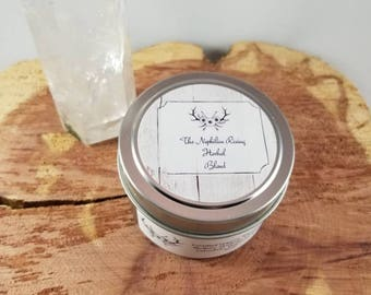 Anti-Anxiety Herbal Blend (4 oz. tin): Certified Organic Mullein, Skullcap, Mugwort, Calendula, Rose Petals, Lavender