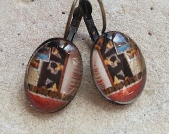 561 small oreillesovales earrings, Japanese inspired