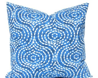 Royal Blue Pillow Covers - Decorative Pillow Covers - Sofa Pillow Covers - Ogee Pillow - Couch Pillow Covers - Throw Pillow Covers