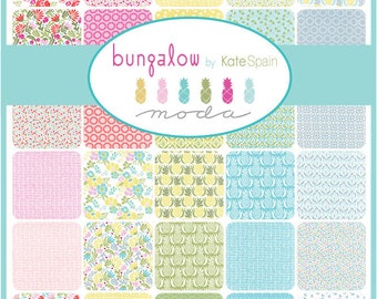 Bungalow - Bundle - Complete Bungalow Collection - Kate Spain - Moda Fabrics -  Pineapple Fabric, Spring Fabric, Floral Quilt