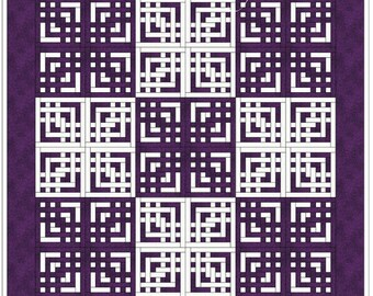 "Quilt Pattern - Lovers' Knot - King size: 110"" x 110"""