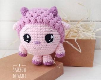 FREE SHIPPING Crocheted lamb Crochet little sheep Amigurumi toys Crochet animals Baby shower gift