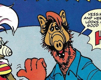 Vintage 1980's Comic Book - Alf - Rhonda's Back