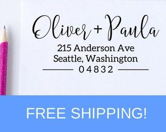 Return Address Stamp, self inking stamp, wedding gift, housewarming gift, custom address stamp, realtor gift, mothers day gift  (D223)
