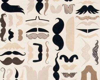 Alexander Henry Fabric-A Must Stache Mustache 1 YD