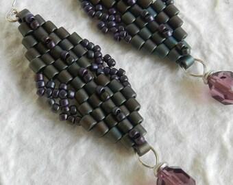 Embellished Double Diamond Earrings