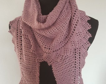 summer scarf in old pink
