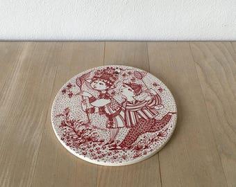 August porcelain platter – Bjørn Wiinblad – 3013-8