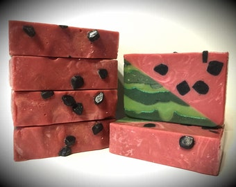 Summer Slice Watermelon Scented, handmade soap, artisan soap, cold processed soap