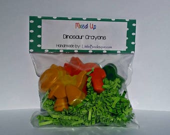 Upcycled Crayons Dinosaur Party Favors Stocking Stuffers