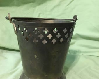 Metal planter or candle holder