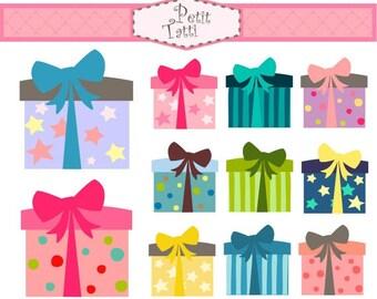 ON SALE  Gift Box Clip Art - Digital Clip Art. Gift box 2 clip art, instant download, Digital clip art, present clip art, birthday clip art