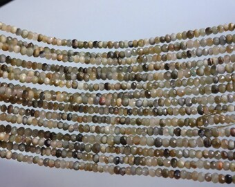 14-inch Natural Cats Eye Chrysobery micro faceted rondelle ebads size 3.5mm GW1857