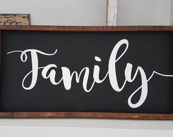 Family sign | Custom Wood sign | Wood Sign | Wooden sign | Wood framed sign | Personalized sign | Rustic Wooden Sign | Rustic sign