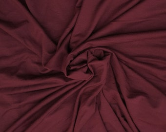 "Bamboo Spandex Fabric Jersey Knit by the Yard Maroon Dream 59""W KH129"