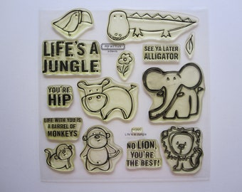 14 cling mount stamps - LIFE'S A JUNGLE - Close to My Heart stamp set